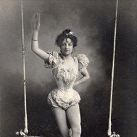 Browse Vintage+Photograph+Circus+Black+and+White+Trapeze+Artist+Woman+Victorian pictures, photos, images, GIFs, and videos on Photobucket
