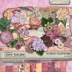 Indian Summer Scrap Kit by Laura Burger also addon papers and other accessories available.