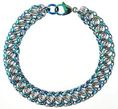 Chainmaille Tutorial & Kit | Mngwa Bracelet | Blue Buddha Boutique This place is in Chicago and has lessons.