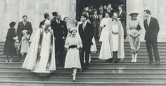 1982-12-25 Diana, Charles and members of the Royal Family leave St George's Chapel, Windsor, after attending the Christmas Day Service