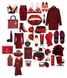 """""""Red"""" by sophiekayc on Polyvore featuring мода, RED Valentino, Charlotte Olympia, Dorothy Perkins, Christian Dior, Happy Embellishments, Fashion Fair, L.K.Bennett, Chicwish и Puma"""