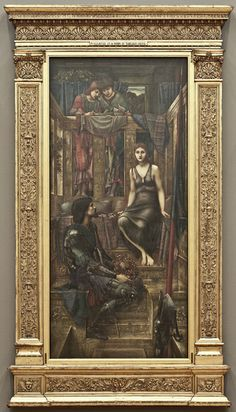 Burne-Jone, King Cophetua and the Beggar Maid, 1884, Tate before conservation of the frame in 2012. The frame had been enlarged to take a removable glazing door, so that the original artist's frame was changed in proportion, detail and look. By Alastair Johnson