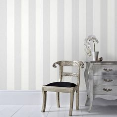 Graham & Brown Gray Calico Stripe Removable Wallpaper - The Home Depot
