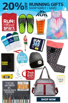 Use Code HOLIDAY20 to get 20% off all Running Gifts! Shop early and save on finding the perfect gift for your favorite runner. Check out our list of Top 18 Running Gifts!