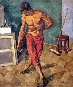 Floor polisher, 1946 by Pyotr Konchalovsky (1876-1956, Ukraine)