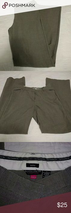 Old College Inn Pants Old College Inn Business Pants. Soho Stretch, Med Grey in color Old College Inn Pants Wide Leg
