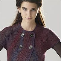 Murano Lace Women's Garter Stitch Jacket free knitting pattern from skacel collection, inc.