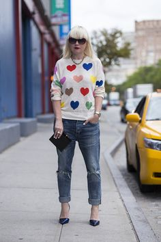 topshop:  Trophy jumper, courts and ripped jeans make the...