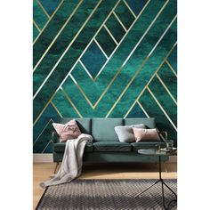 Komar Art deco Geo Wall Mural – Miss Lolo Wallpaper Art Deco, Star Wallpaper, Photo Wallpaper, Graffiti Wall, Wall Murals, Bedroom Colors, Bedroom Decor, Muebles Art Deco, Room Themes