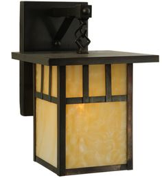 "9""W Hyde Park Double Bar Mission Straight Arm Outdoor Sconce"