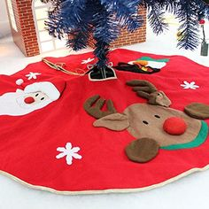 KPAO Christmas Tree Skirt for Christmas Holiday Party Decoration 42 Inches >>> See this great product.-It is an affiliate link to Amazon. #SeasonalDecor