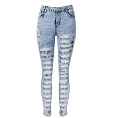 Cheap jean claude, Buy Quality jeans light directly from China jeans pants for men Suppliers: Ripped Jeans for Women Skinny High Waist pantalones vaqueros mujer Sexy Ladies Jeans Cotton White Ripped Skinny Jeans, White High Waisted Jeans, Light Blue Skinny Jeans, Womens Ripped Jeans, Ripped Jeggings, High Waisted Distressed Jeans, White Distressed Jeans, Ripped Denim, Super Skinny Jeans