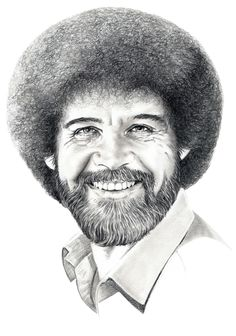 Creative Giants – Bob Ross: Bob Ross hosted the public television show The Joy of Painting from 1983 to 1994.