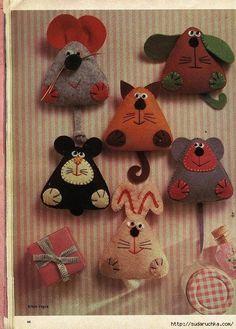 Мобильный LiveInternet Фетровые маленькие игрушки-сувениры. | Юлия_Ж - Дневник Юлия_Ж |