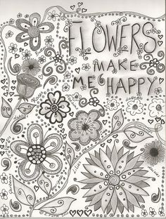 adult flowers drawing coloring pages printable and coloring book to print for free. Find more coloring pages online for kids and adults of adult flowers drawing coloring pages to print. Tangle Doodle, Doodles Zentangles, Zen Doodle, Zentangle Patterns, Doodle Art, Colouring Pages, Adult Coloring Pages, Coloring Books, Free Coloring