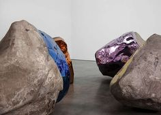 Jim Hodges' Chromatically-Mirrored Boulder Sculptures