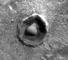 Geodesic Dome in Martian Crater?