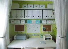 Small closet office space