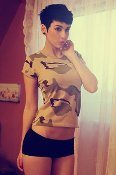See girls with short hair are cute:p