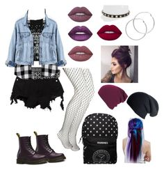 """""""Rock style"""" by sol-espina on Polyvore featuring moda, Boohoo, County Of Milan, Valentino, Faith Connexion, Lime Crime, Melissa Odabash, Black, Manic Panic NYC y Banana Republic"""