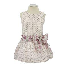 Vestido de niña con talle bajo, moda infantil - fabricado en España. #modaminis…
