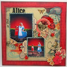 Go Find Alice Layout #KaiseCraft through the looking glass paper collection created for KaiserCrafts Design Team.