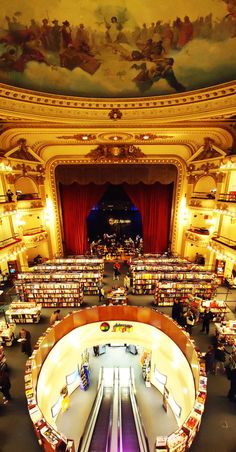 El Ateneo bookstore - Buenos Aires. The most remarkable bookstore I've ever visited, and the highlight of our trip to BA.