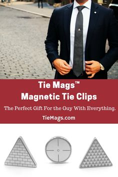 Tie Mags replace the dated flimsy tie clip and sharp tie pin. Using the strongest magnets on earth, Tie Mags hold a tie in place with style. The perfect gift for holidays, birthdays, or just a nice surprise. tiemags gifts for him
