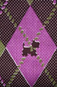 Mid-century scottie dog cotton