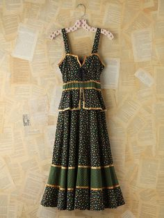 Free People Vintage Floral Printed Gunne Sax Dress