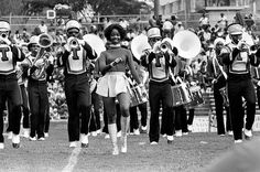 Tennessee State University Aristocratic Marching band performed for the 16,000 fans packed into W.J. Hale Stadium Oct. 6, 1973 during halftime of the Big Blue Tigers battle with Grambling.