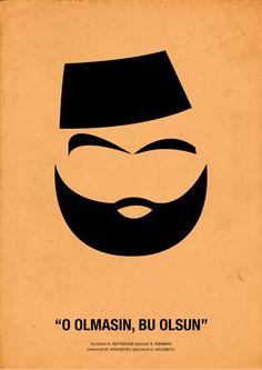 Azerbaijan films. Minimal movie posters by Khudayar Agayarov, via Behance