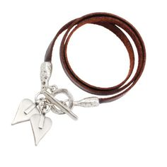 Danon Jewellery Leather Signature Hearts Wrap Bracelet (black and brown) £45 from www.Lizzielane.com http://www.lizzielane.com/product/danon-jewellery-leather-signature-hearts-wrap-bracelet/