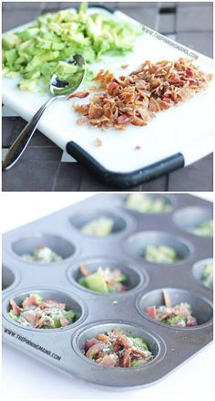 Bacon Avocado Ranch Egg cups- perfect easy breakfast on the go. Paleo, c. - breakfast - Bacon Avocado Ranch Egg cups- perfect easy breakfast on the go. Whole 30 Breakfast, Breakfast Cups, Low Carb Breakfast, Breakfast Recipes, Avocado Egg Breakfast, Breakfast Ideas, Bacon Breakfast, Avocado Ranch, Bacon Avocado