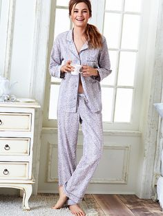 The Cotton Mayfair Pajama. i think id do up the buttons but