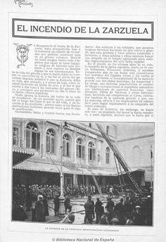 1909 Incendio Teatro Zarzuela. Biblioteca Nacional