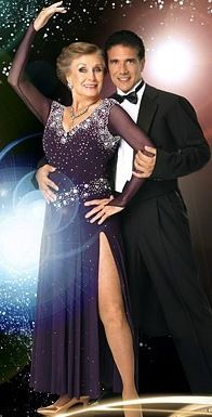 DWTS Season 7 Cast Celebrity Cloris Leachman and Professional Corky Ballas