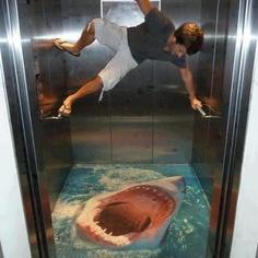 Jaws in elevator!! #original #jaws #scare #ascensor #floor