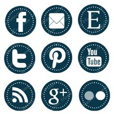 Web & Blog Buttons 9 Social Media Buttons For Your by moxietonic