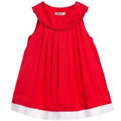 Armani Baby Girls Red Dress & Knickers at Childrensalon.com