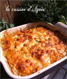 gratin de butternut et pommes de terre • La cuisine d'agnèsLa cuisine d'agnès Healthy Dinner Recipes, Breakfast Recipes, Winter Food, Light Recipes, Lasagna, Vegan, Good Food, Food And Drink, Veggies