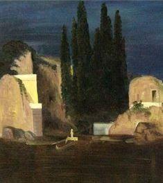 Die Toteninsel 5.Version (The Isle of the Dead V) Arnold Böcklin