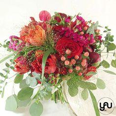 Buchet mireasa flori rosii _ BM219 – YaU concept Nasa, Wedding Bouquets, Floral Wreath, Wreaths, Modern, Artist, Home Decor, Floral Crown, Trendy Tree