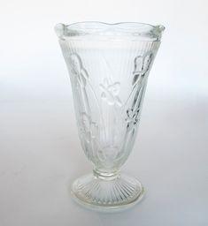 Jeannette Glass Company Iris And Herringbone Vase by CarolsThreads