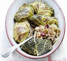 deVegetariër.nl - Vegetarisch recept - Kool gevuld met linzen en rijst