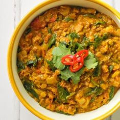 Coconut & spinach dhal