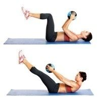 Flat-Ab Pilates Workout. Easy at home workout, all you need is a pilates ball! summercherie24 inspiration six-pack-abs excercise excercise