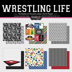 Scrapbook Customs Themed Paper Scrapbook Kit Wrestling Life ** Click on the image for additional details.Note:It is affiliate link to Amazon.