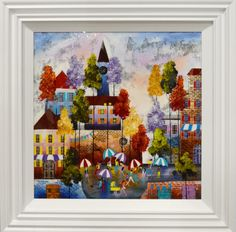 Around Town by Rozanne Bell. Available from Artworx Gallery Shropshire UK. www.artworx.co.uk