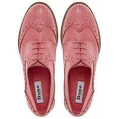 Dune Langbury Brogue Shoes, Pink